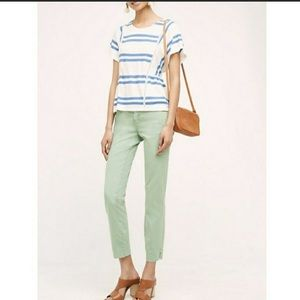 Anthropologie Green Chino Capris Size 29 Slim